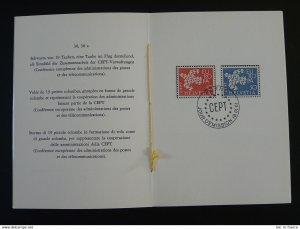 Europa Cept 1961 FDC PTT folder Switzerland