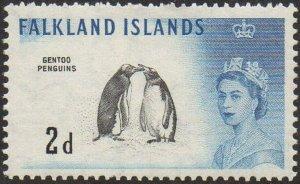 Falkland Islands 1960 2d Gentoo penguins MH