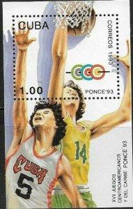 Caribbean 1993 Baseball - Ponce  Souvenir Sheet SC#3538 MNH
