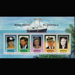 ANGUILLA 1994 - Scott# 908a S/S Royal Visit NH