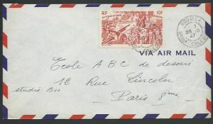 NEW CALEDONIA 1947 airmail cover Noumea to France..........................58659