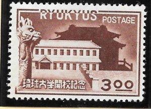 RYUKYU Scott #14 Mint 3 Yen Ryukyu University 2018 CV $45.00