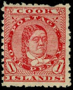 COOK ISLANDS SG24, 1d dull rose, M MINT. Cat £15.