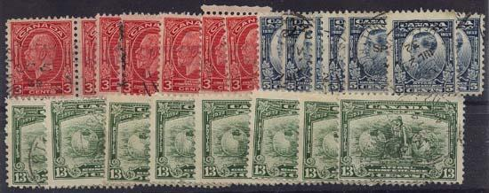 Canada USC #192-4 USED Eight Complete Sets 1932 Imperial Econ. Conf.