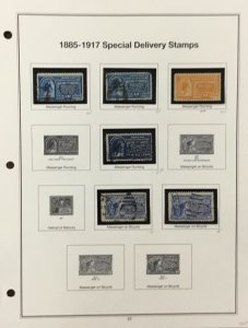 US Special Delivery Stamps from 1885-1971    Scott  CV $591.00    AB