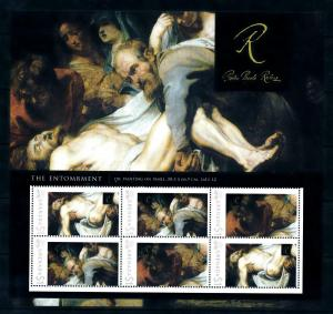 [100093] Grenada 2009 Art Painting Rubens The Entombment Souvenir Sheet MNH
