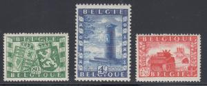 Belgium Sc B477-B479 MNH. 1950 6th Anniversary of Liberation by the British