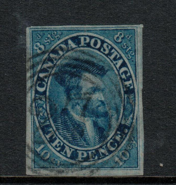 Canada #7 Very Fine Used With Ideal 4R27 Cancel - Few Thins **With Certificate**
