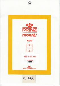 PRINZ CLEAR MOUNTS 189X151 (5) RETAIL PRICE $10.50