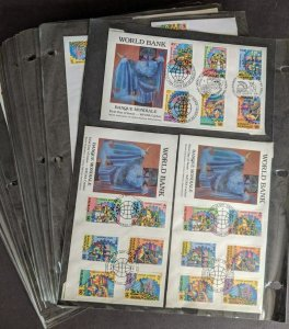 EDW1949SELL : U.N. Specialized collection of 1988-1991 mainly FDC issues.