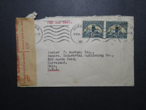 South Africa 1941 Censor Cover to USA (I) - Z12024
