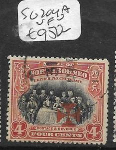 NORTH BORNEO (P0304B) RED CROSS 4C SG 204A  RARE STAMP  VFU