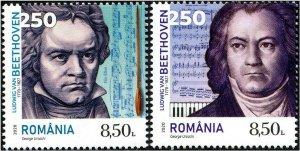HERRICKSTAMP NEW ISSUES ROMANIA Beethoven