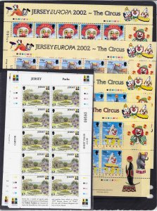 Jersey 1999 Europa Parks & Gardens set in unmounted mint sheetlets of 10, ditto