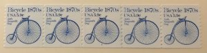 USA 1901 #3 MNH PNC strip of 5 Bicycle SCV $17.50
