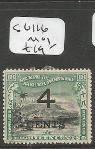 North Borneo SG 116 MOG (4clr)