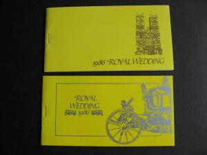 MONTSERRAT MNH 1986 royal wedding regular and imperf! booklets, check them out!