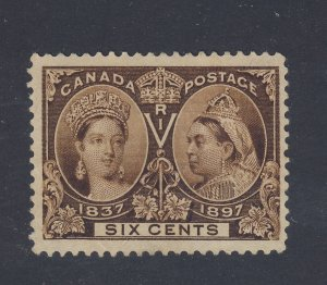 Canada Stamp  Victoria Jubilee #55-6c Mint No Gum F/VF Guide Value= $200.00