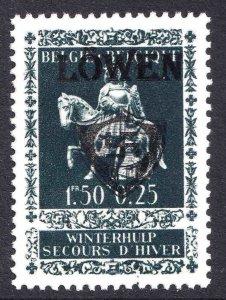 BELGIUM B337 WW2 LÖWEN OVERPRINT OG NH U/M VF BEAUTIFUL GUM