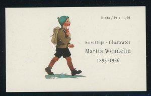 Finland 1993 Martta Wendelin Art booklet Sc# 920a NH