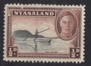 Nyasaland 1945  MH  George  VI   1/2 d     #
