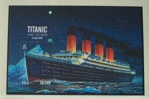 JE83) Jersey 2012 Titanic 100 Years M/S MUH