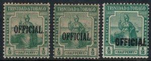 Trinidad & Tobago #O3-5*  CV $13.75