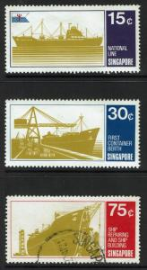 Singapore SC# 126-128, Mint Hinged, 128 Used - S962