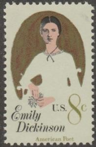 USA stamp, Scott# 1436, MNH, Emily Dickinson, Poet,  tall stamp, #MAOO3