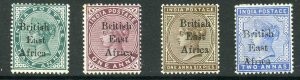 KUT 1895 1/2a 1a and 1a6p possible forgeries (genuine 2a for comparison) M/M