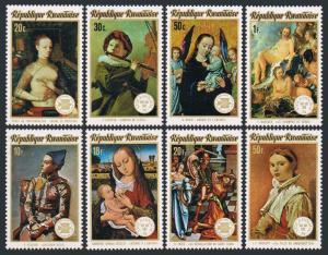 Rwanda 594-601,601a594a-601b deluxe,MNH.Michel 641-648,Bl.40-46. Paintings,1974.