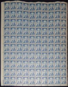 MALACK 1038 5c James Monroe, Full Sheet, F-VF OG NH ..MORE.. sheet1038