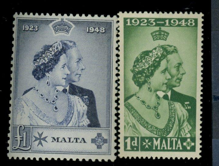 Malta #223-4 MINT VF OG LH Cat$40.55