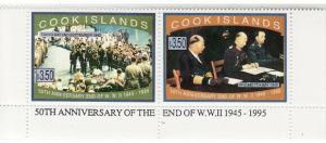 Cook Islands - World War II - 2 Stamp  Pair - 1198