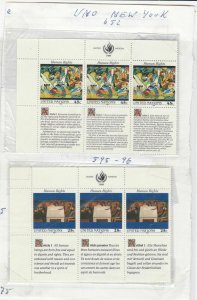 United Nations Mint Never Hinged Stamps  ref R 18293
