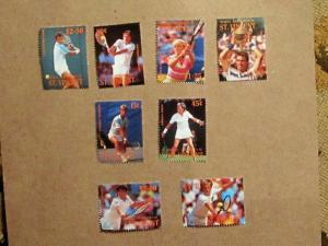 Bequa St. Vincent - 260-67, MNH Set. Tennis. SCV - $5.40