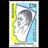 MAYOTTE 1998 - Scott# 108 Mariama Salim Set of 1 NH
