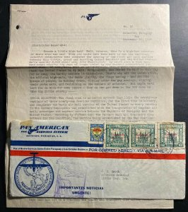 1947 Asuncion Paraguay First Flight Airmail Cover FFC To Little Rock AR USA PAA