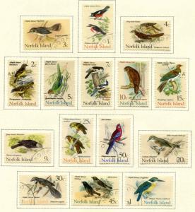 Norfolk Island SC# 126-140 SG#103-97 BIRDS BIRDS BIRDS Set Used