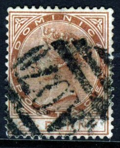 DOMINICA QV 1884 2½ Pence Red-Brown Perf 14 Watermark Crown CA SG 15 VFU