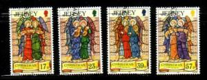 Jersey Sc 651-4 1993 Christmas stamp set used