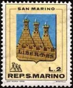 SAN MARINO 1968 STEMMI SERIE COMPLETA TIMBRATI