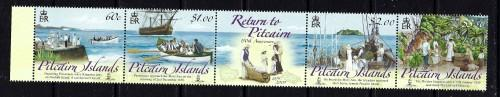Pitcairn Is 684 NH 2009 Return to Pitcairn Anniv strip of 5 been folded