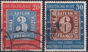 Germany #667-8 F-VF Used   CV $79.00  (SU7348)