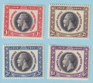 SOUTH WEST AFRICA 121 - 124 MINT NEVER HINGED OG ** NO FAULTS EXTRA FINE! - Y318