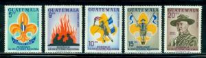 Guatemala #C328-C332  Mint  Scott $5.30