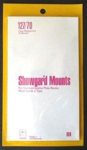 Showgard Stamp Mounts Size 127 / 70 CLEAR Background Pack of 10