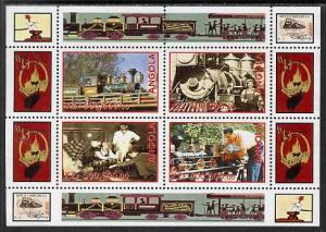 Angola 1999 Walt Disney's Railroad History #1 perf sheetl...
