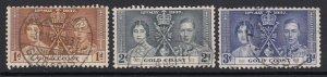 Gold Coast, Sc 112-114 (SG 117-119), used