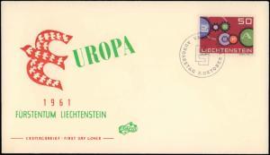 Liechtenstein, Worldwide First Day Cover, Europa
